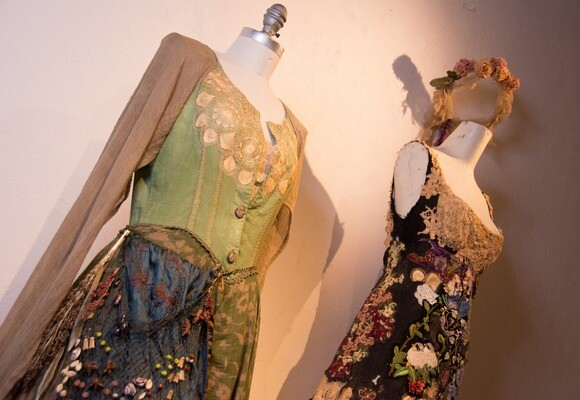 """""""Demeter's Gown"""" and """"Persephone's Gown"""" by Melinda Forbes.   Chris Daly"""