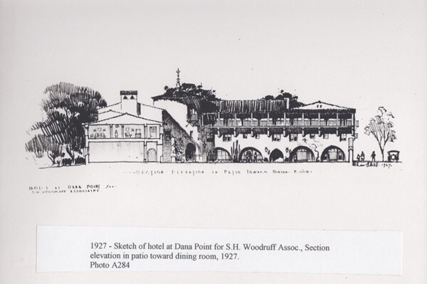 Sketches for the proposed Dana Point Inn | Courtesy of the Dana Point Historical Society