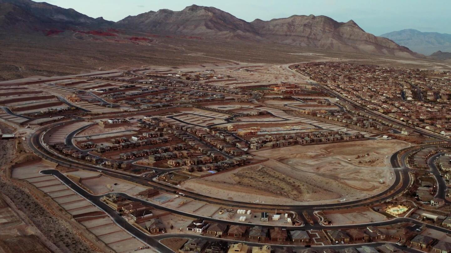 A housing development in the Las Vegas area.