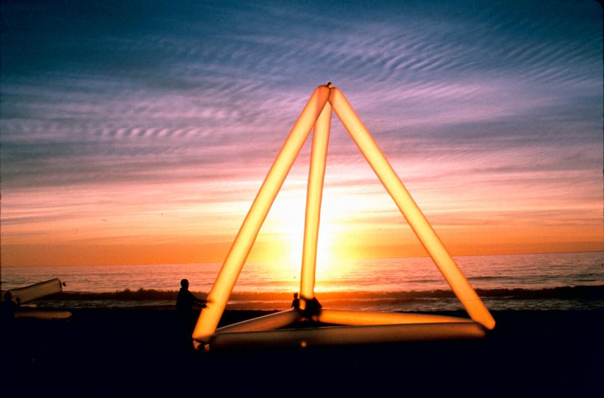 "Doron Gazit, ""Pyramid at Sunset,"" Santa Monica beach"