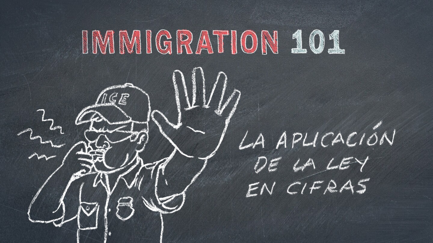 Immigration Enforcement by the Numbers Spanish Graphic