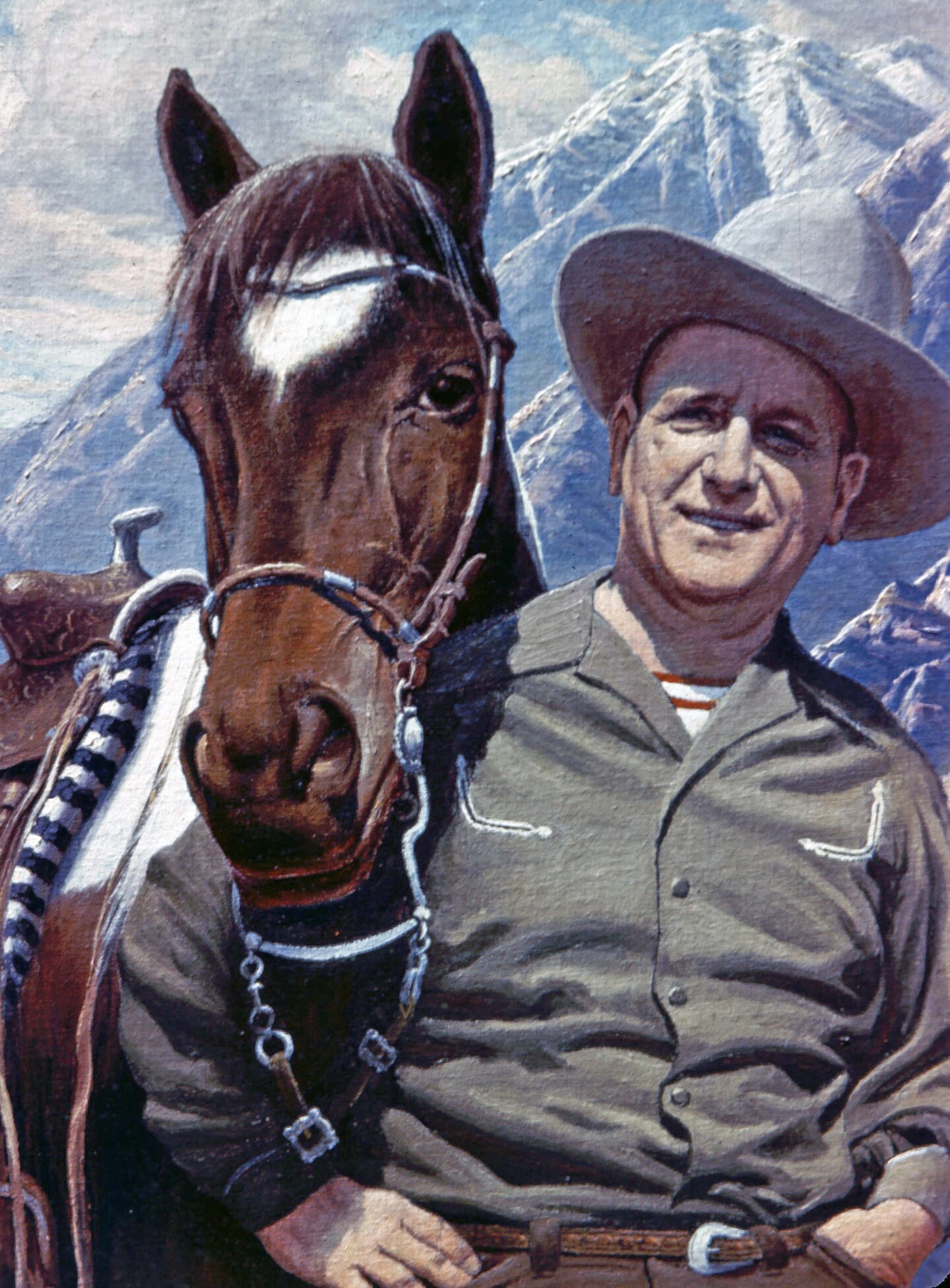 A Harry Bennnett and his horse Sonny in a portrait by Paul Grimm.