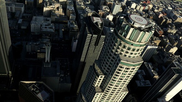 "Library Tower (US Bank Tower) | ""The Sky Above"" by Kamau Patton. Video by Machine Project."