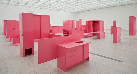 """Installation view, Stephen Prina, """"As He Remembered It (detail),"""" 2011, Los Angeles County Museum of Art, © Stephen Prina; courtesy Galerie Gisela Capitain, Cologne, and Petzel Gallery, New York. Photo © 2013 Museum Associates/LACMA."""