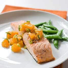 Roasted Salmon With Tangerine And Ginger Relish Kcet