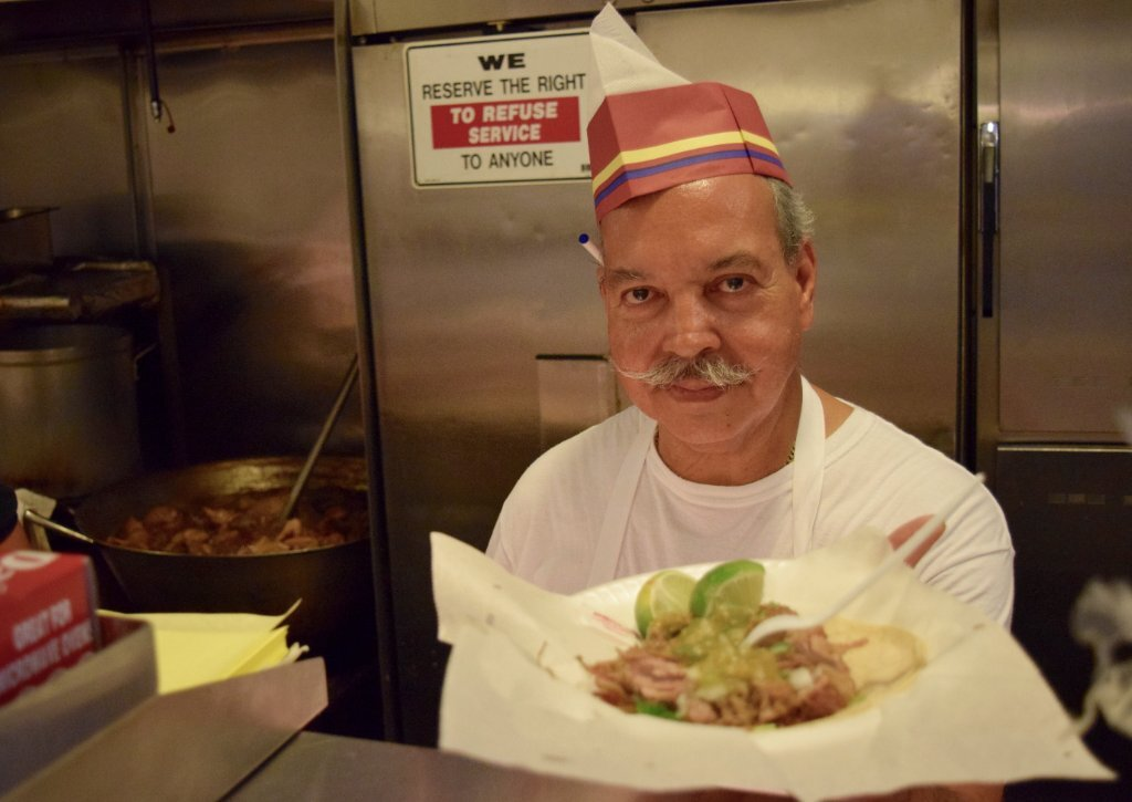 Tomas Martinez presents his signature carnitas taco | Danny Jensen