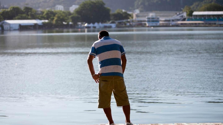 Altair Guimarães overlooking Rodrigo de Freitas lagoon