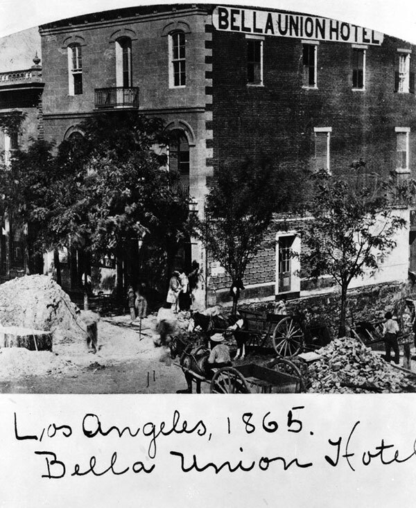 The Bella Union in 1865. Courtesy of the Title Insurance and Trust / C.C. Pierce Photography Collection, USC Libraries.