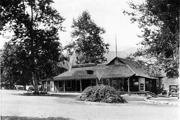 Main building at Camp Rincon in Azusa, ca.1930 | Digitally reproduced by the USC Digital Library; From the California Historical Society Collection at the University of Southern California