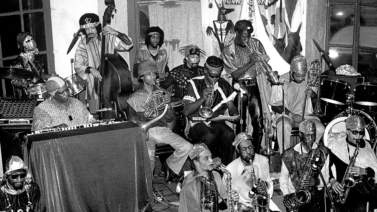 The Sun Ra Arkestra at the Detroit Jazz Center on December 31, 1979 in Detroit, Michigan.   Leni Sinclair/Getty Images