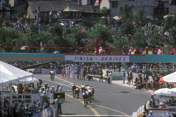 1984 Olympic Road Cycling Race. Courtesy of Mission Viejo City Library - Mission Viejo Heritage Committee Planned Community Collection