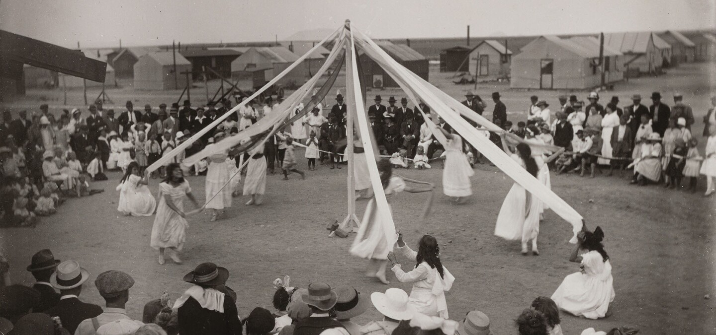 Maypole Festivities in Llano del Rio | Paul Kagan Utopian Communities Collection/Yale Beinecke Library