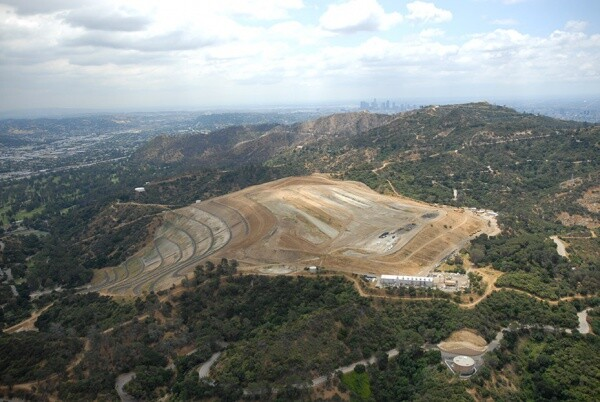 Aerial view of Toyon Canyon with the city in the background | The Center for Land Use Interpretation (CC BY-NC-SA 3.0)