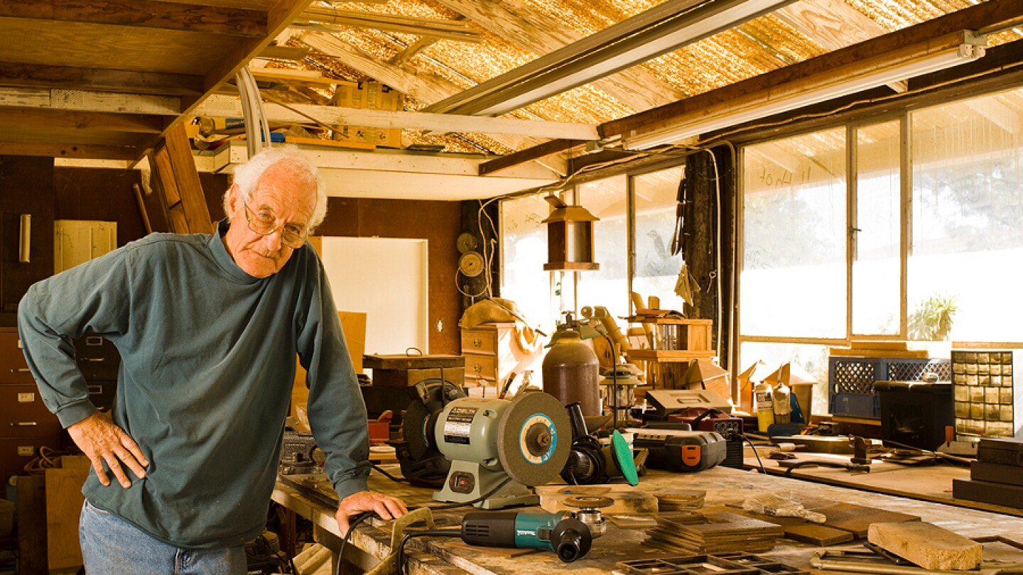 Robin Bright in his studio in Encinitas, CA. | Photo: John Durant.