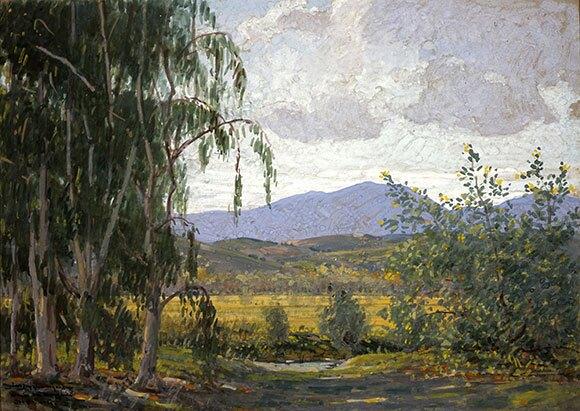"John Baumgartner (1865-1946), ""Rancho Santa Margarita,"" 1925, 10 x 14 inches, Gouache, Private Collection | Courtesy of The Irvine Museum."