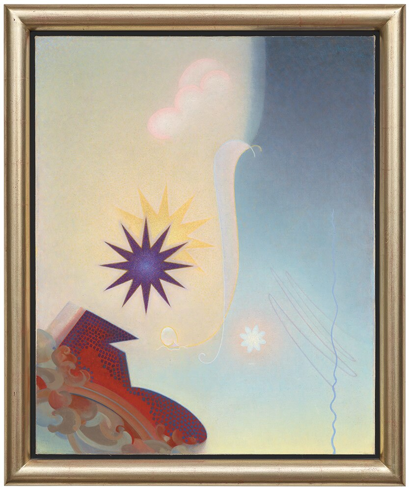 "Agnes Pelton, ""Challenge,"" 1940. Oil canvas. 