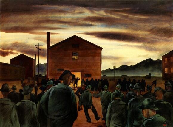 """Zornes, Milford, """"Revelie,"""" 1943, 22x30"""