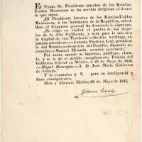 1835 Barragan decree