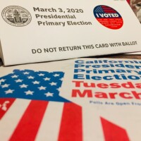 Los Angeles County began mailing out 2020 primary election vote-by-mail ballots on Feb. 3. | Libby Denkmann/LAist