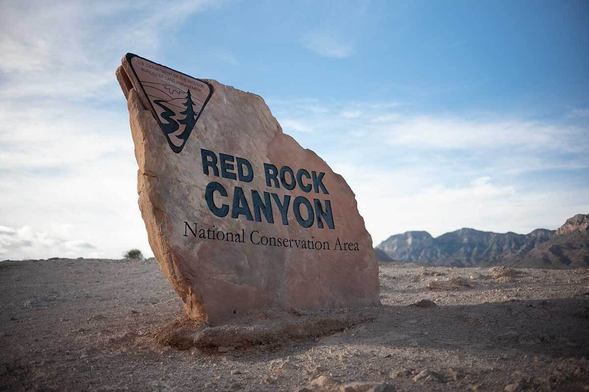 Red Rock Canyon National Conservation Area entry sign