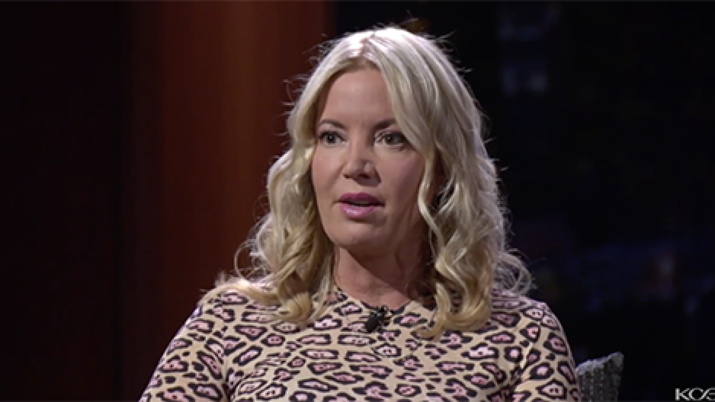 Jeanie Buss, owner and president of the Los Angeles Lakers explains why she took over the family business and removed her brother Jim Buss from overseeing the teams basketball operations.