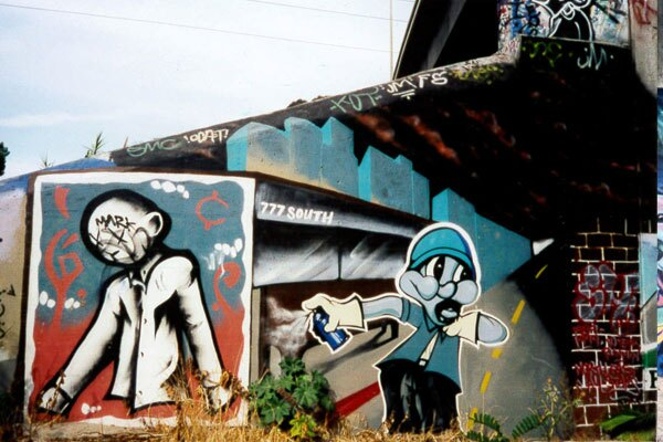 Graffiti on the L.A. River 1999 I Photo by Juan Devis