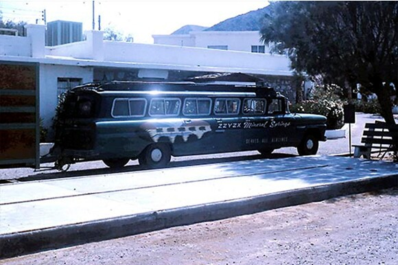 Limo transport to Zzyzx Mineral Springs. | Photo: Courtesy of the CSU Desert Studies Center.