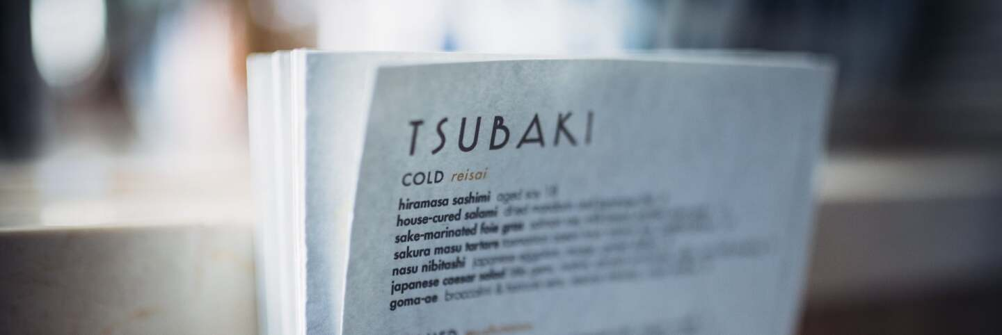 Tsubaki menu | Courtesy of Life & Thyme