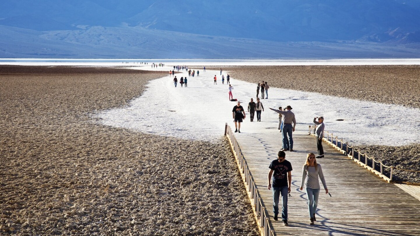 Tourists at Badwater Basin, Death Valley, CA (featured image)