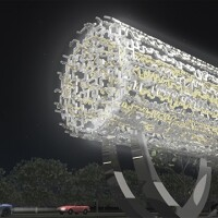 Rendering of the Freedom Sculpture | Courtesy of Farhang Foundation