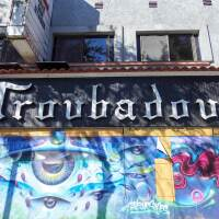 Exterior of the Troubadour in West Hollywood.