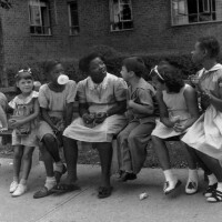 """Children have a """"Meeting of the Minds"""" at the Kingsboro Housing Project in Brooklyn in the 1940s. 