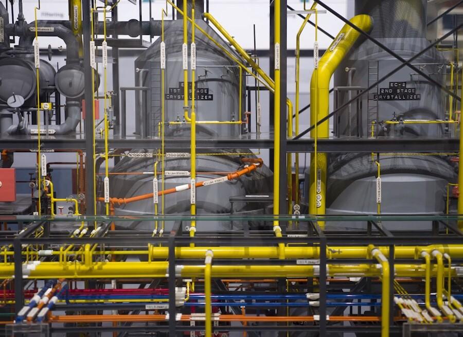 Rio Tinto's borax processing plant