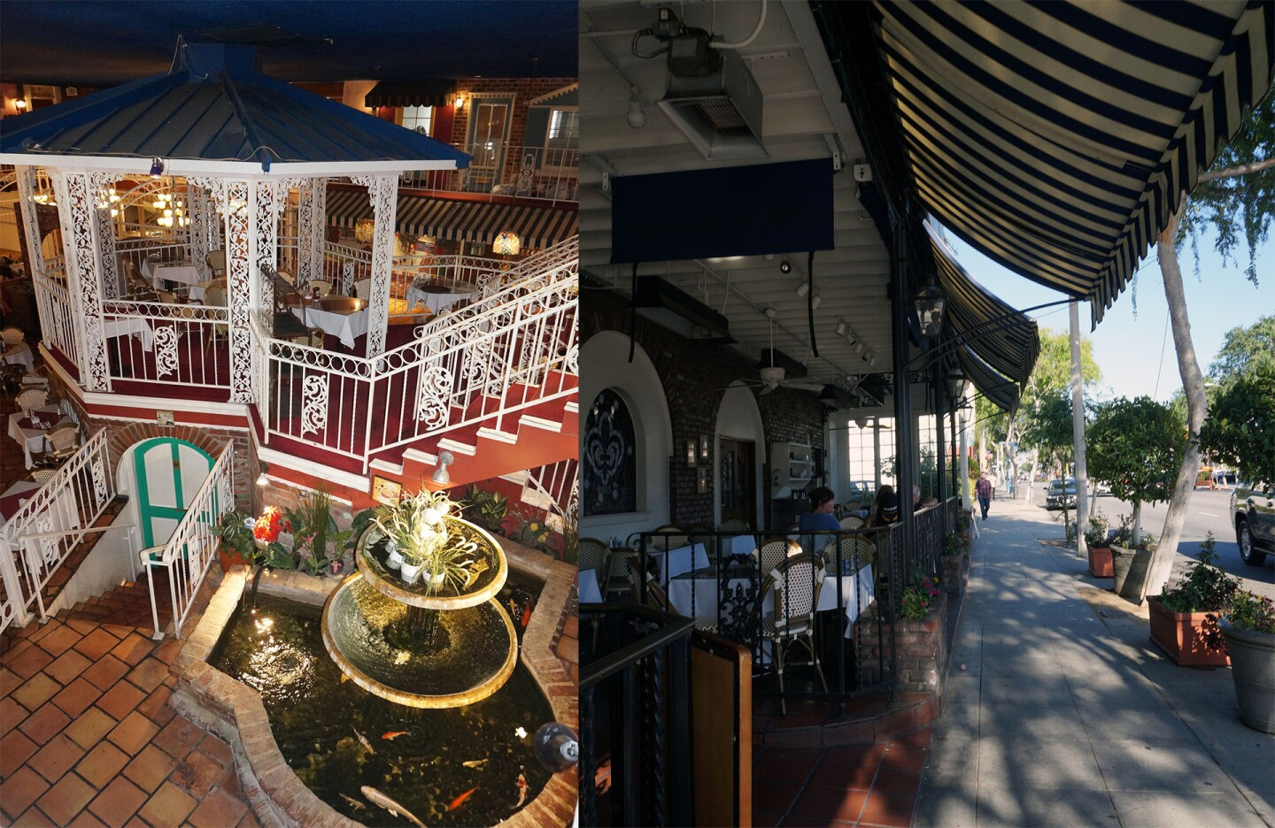 West Hollywood's French Market Place – its interior courtyard and its once-revolutionary sidewalk seating