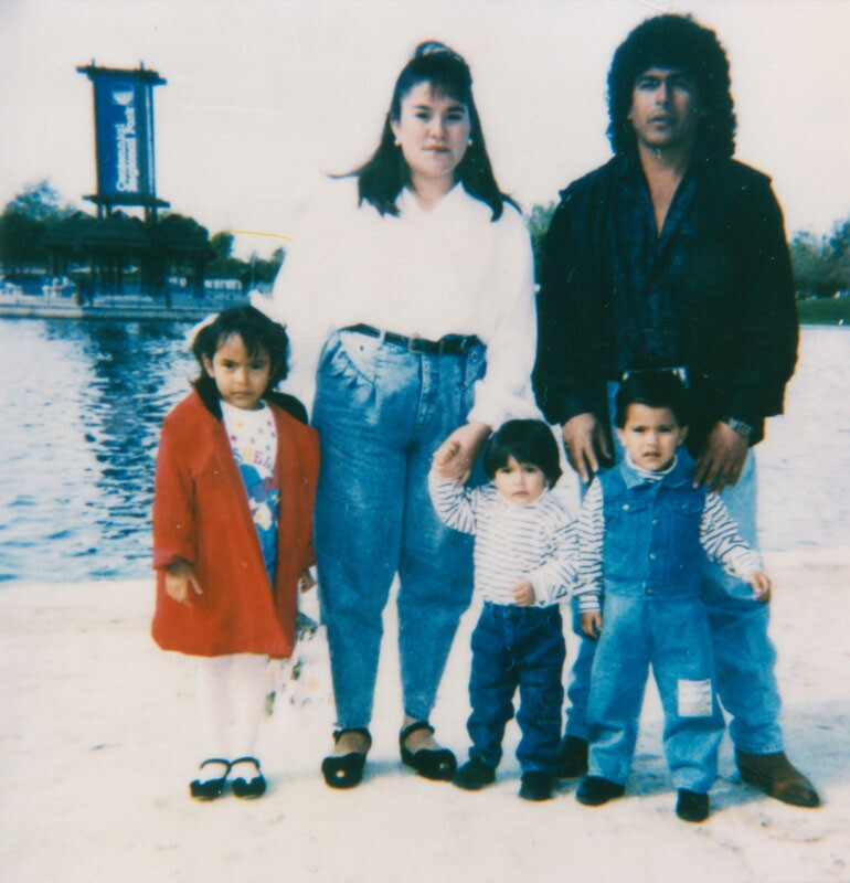 Mexican American Family at Centennial Park, 1992 | LAPL