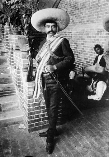 """Hugo Brehme, """"Emiliano Zapata,"""" Cuernavaca, Morelos, May 1911. Fondo Casasola, SINAFO - Fototeca Nacional del INAH, # 63464."""