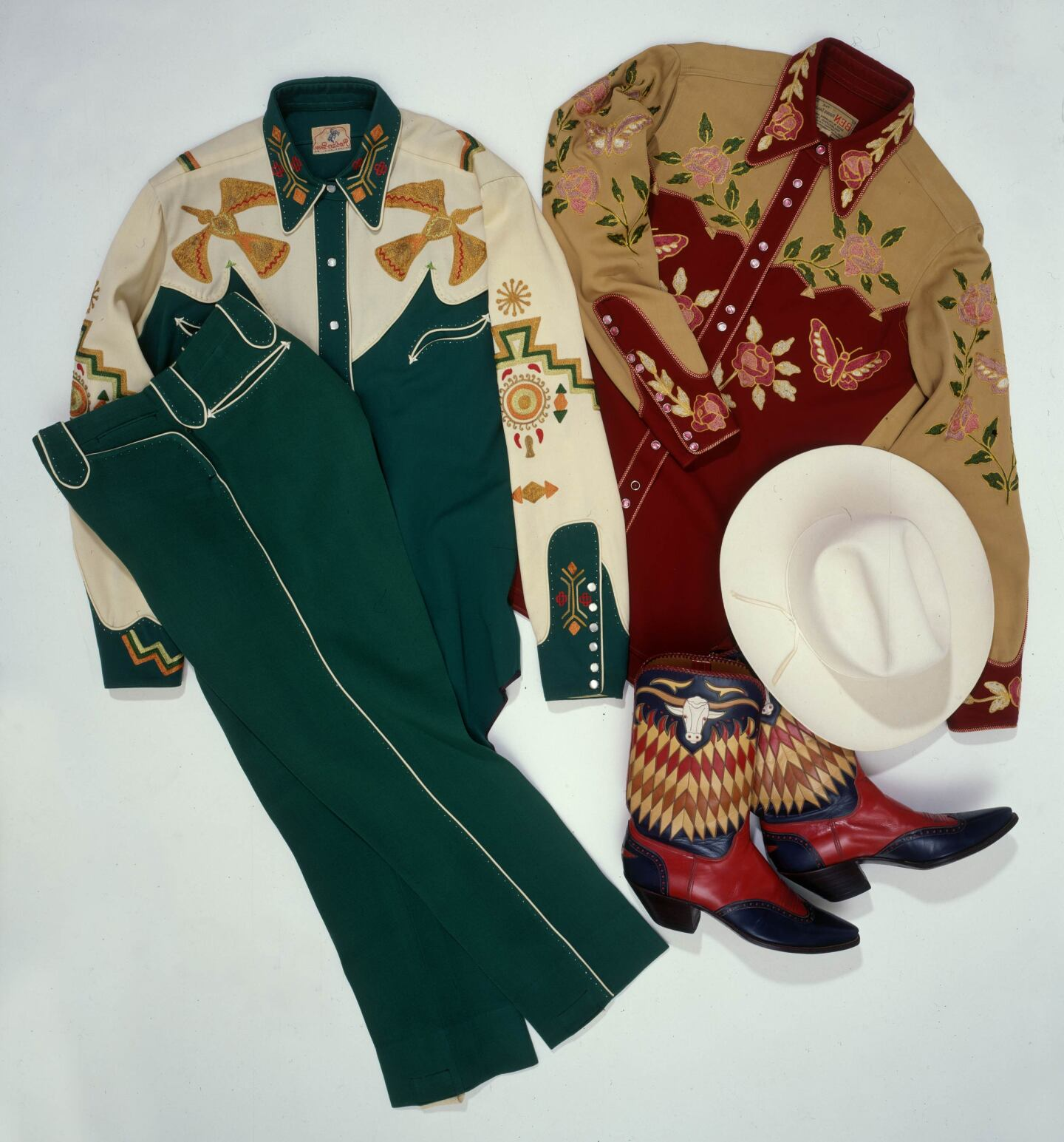 Gene Autry's fanciest stage outfits included these examples made by Rodeo Ben | Courtesy of the Autry Museum of the American West