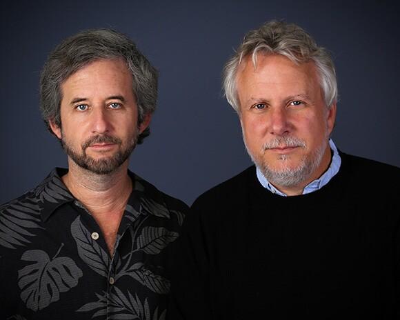 Portraits of Scott Alexander and Larry Karaszewski.   Photo courtesy of Scott Alexander and Larry Karaszewski.