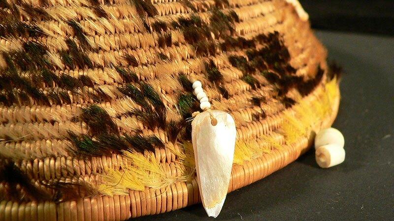 Pomo feathered basket
