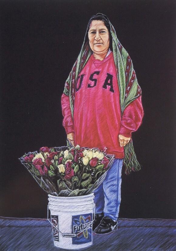 """""""La Virgen de las Calles"""" by Ester Hernandez, 2001.   Courtesy Of Ester Hernandez."""