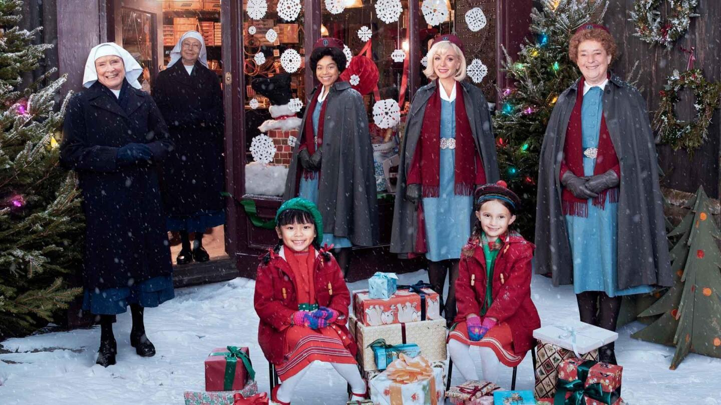 "Cast members of the 2020 ""Call the Midwife"" holiday special pose for a group photo."