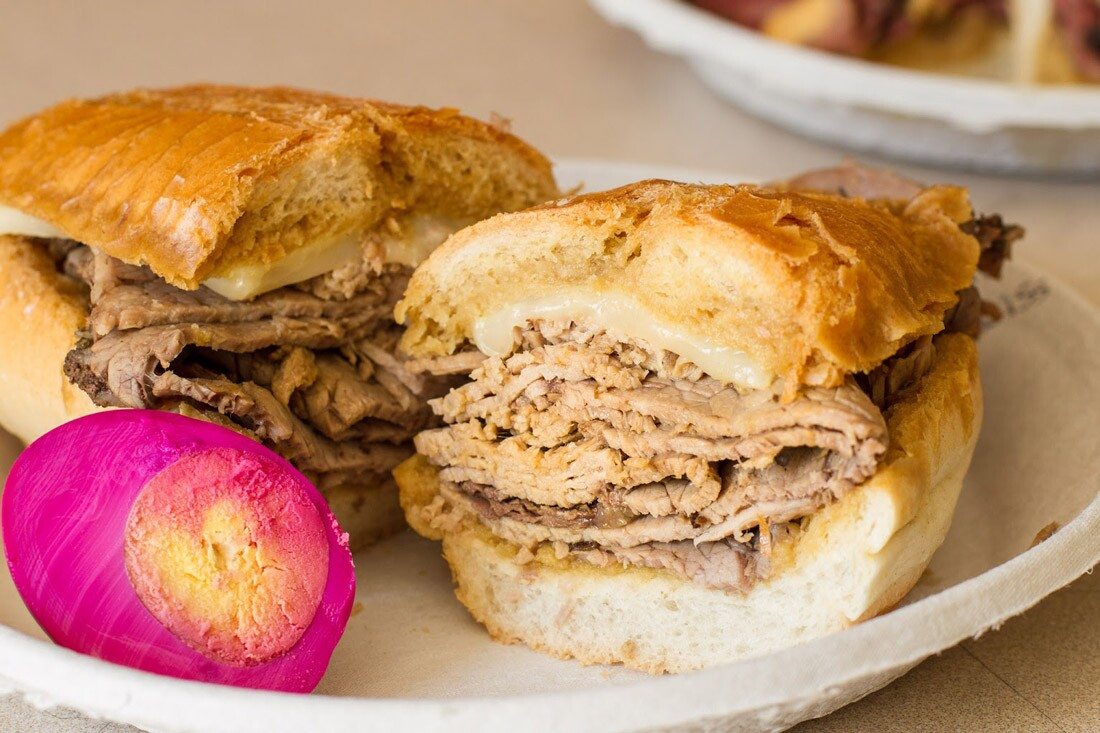 Philippe's French dip sandwich