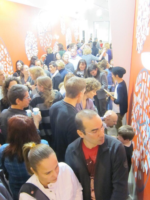 Visitors and participants at the <em>Wall Works</em> CART Opening. | Photo: Courtesy Santa Monica Museum of Art.