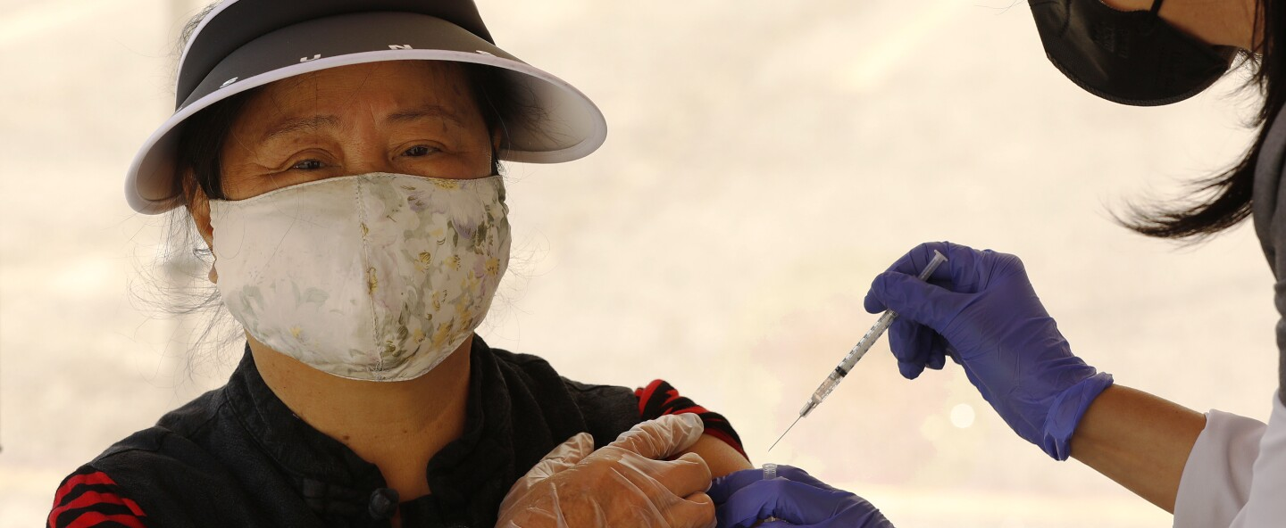 The City of L.A. is staging a COVID-19 mobile vaccination clinic in Chinatown for senior citizens, in an attempt to improve access to the vaccine among vulnerable populations.