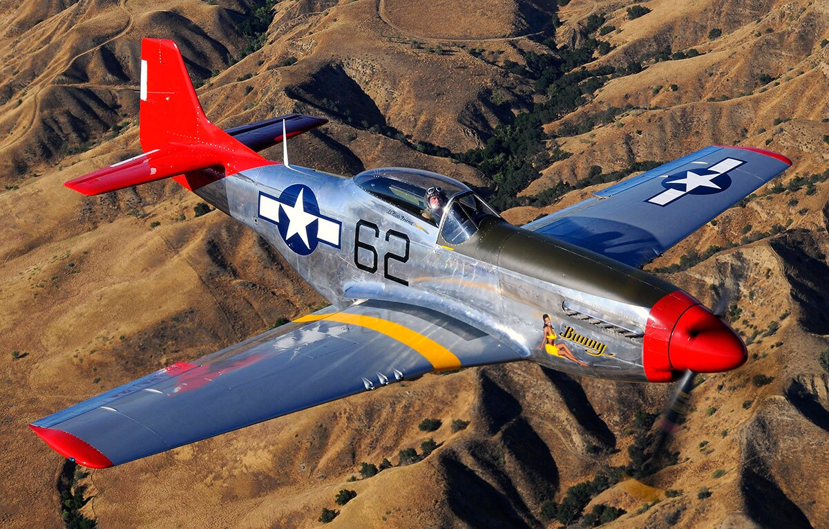 P-51 Mustang   Courtesy of Micheal O' Leary and Air Classics