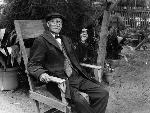 Eugene Plummer at his home in 1939