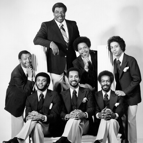Minister and Gospel singer Reverend James Cleveland (top) poses with his group circa 1975 in New York City, New York. | Michael Ochs Archives/Getty Images ABs10 Gospel