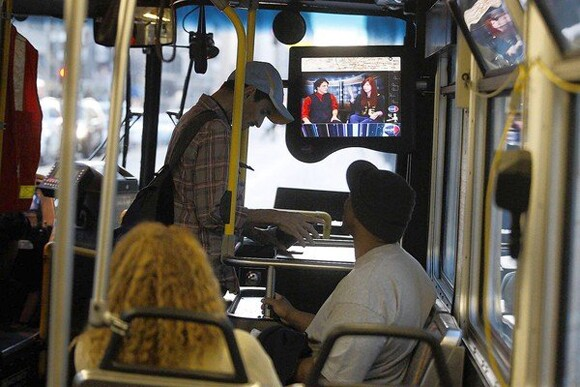 Transit TV on Metro Bus