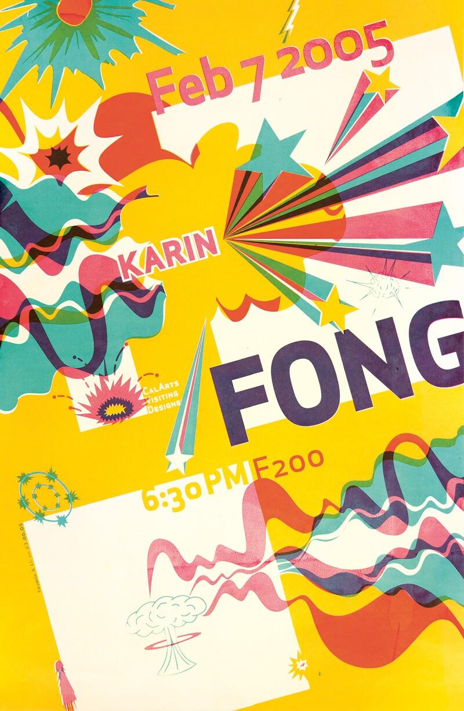 CalArts poster advertising a talk by Karin Fong   Eli Carrico and Yasmin Khan