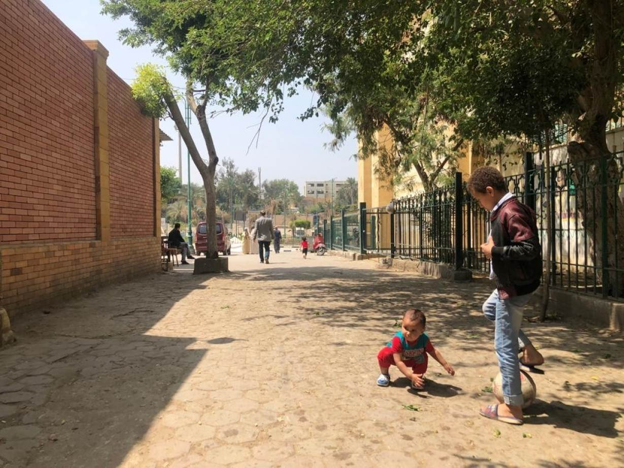 Children play in one of the corners of Egypt's City of the Dead on April 17, 2020. | Thomson Reuters Foundation/Menna A. Farouk
